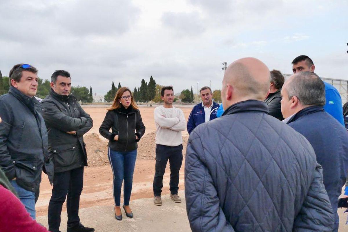 Visita a las obras del campo de fútbol de La Palma