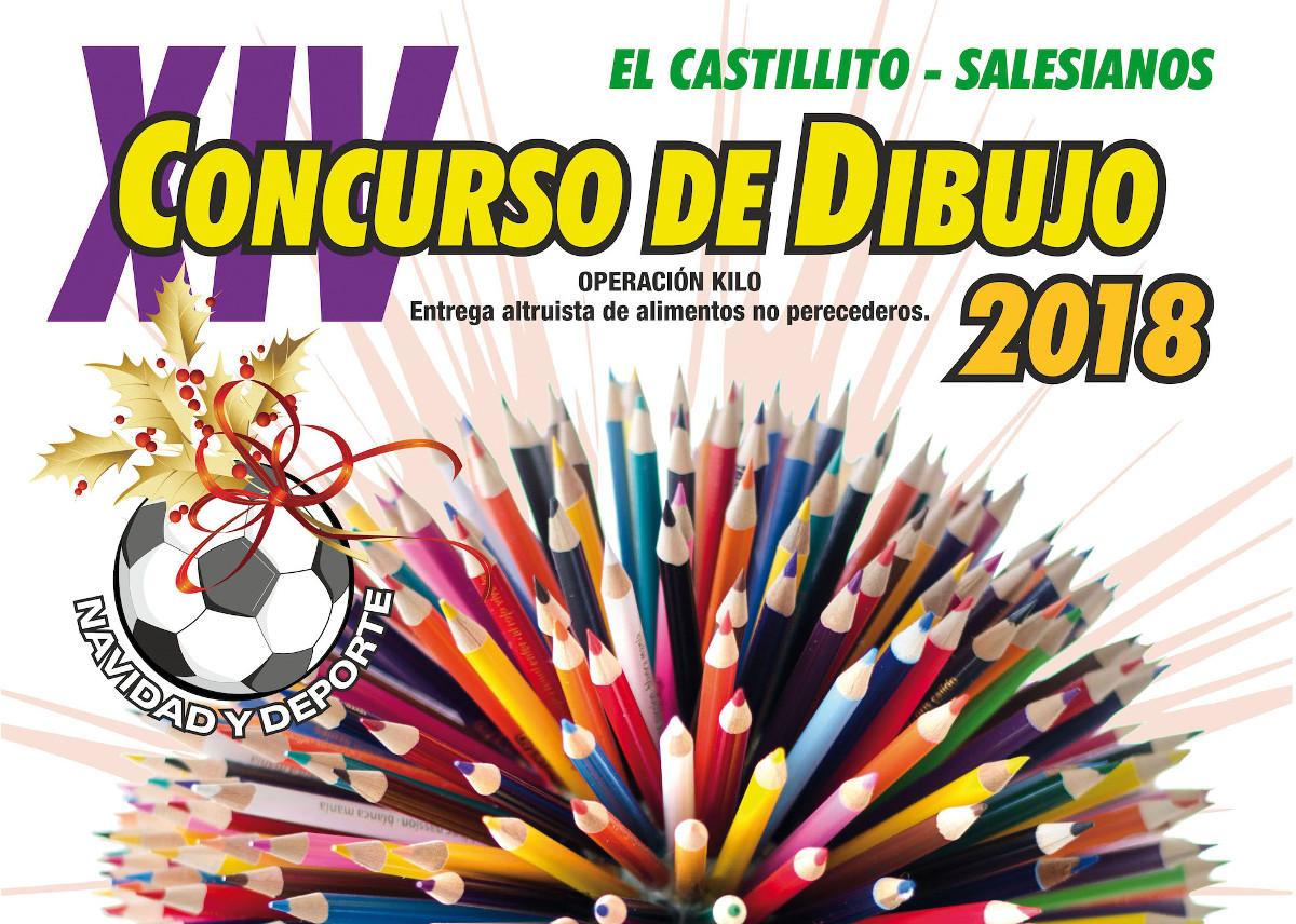 Cartel del XIV Concurso de Dibujo El Castillito-Salesianos
