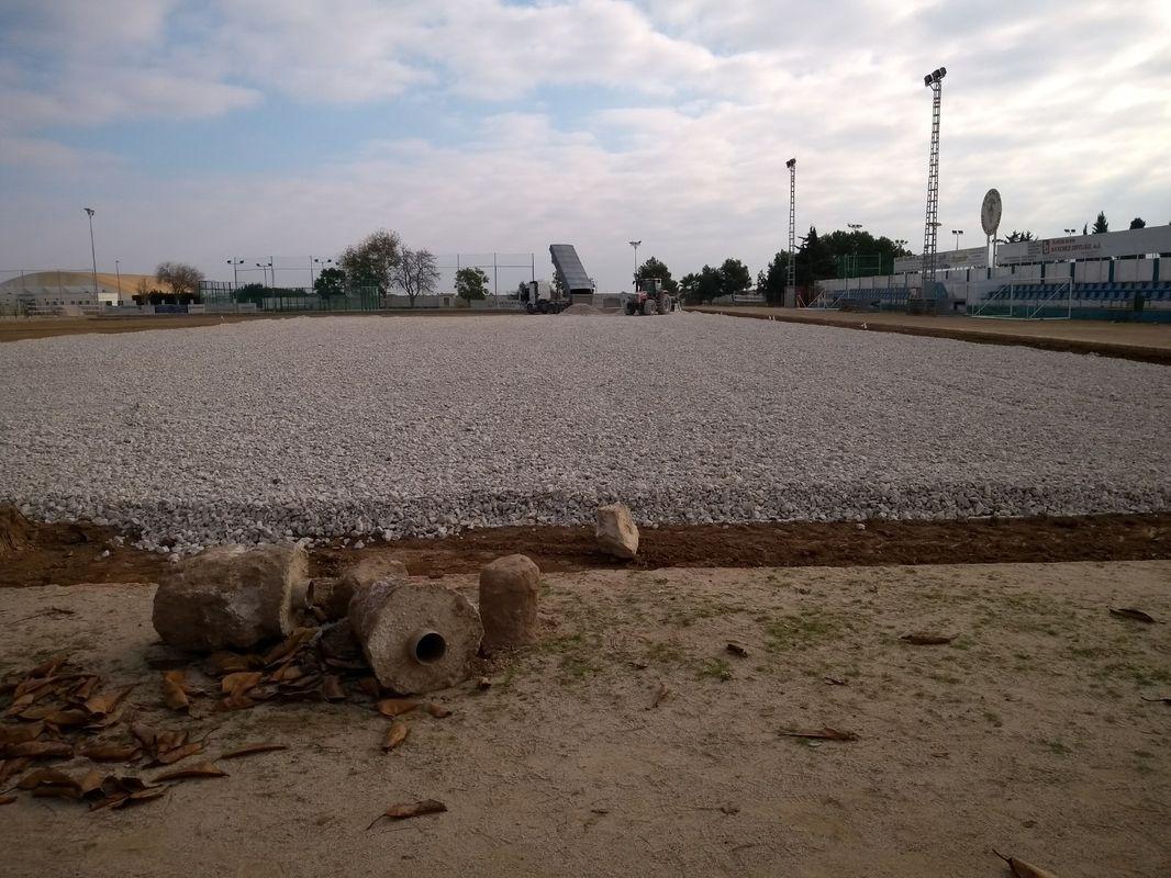 Remodelación en los campos de fútbol del municipio