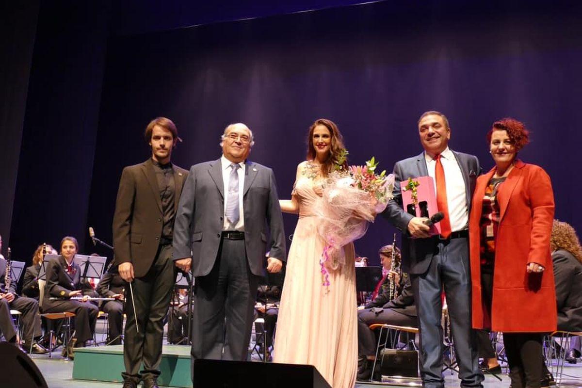 La actuación de la cantante Nuria Fergó en honor a Santa Cecilia