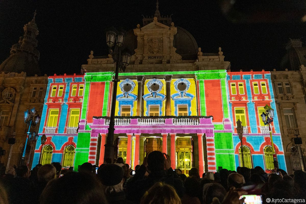 Video Mapping navideño en el Palacio Consistorial