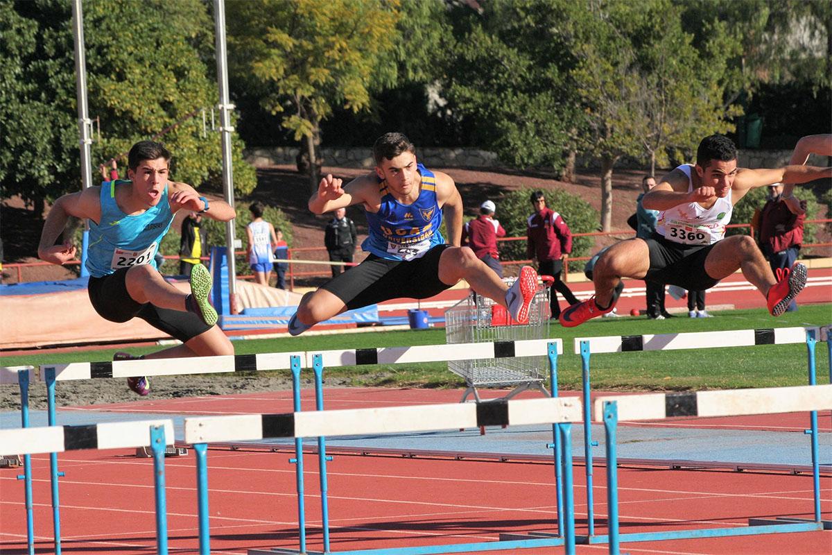Maika Cuenca y José Luis Corral del UCAM Cartagena Atletismo Sub18