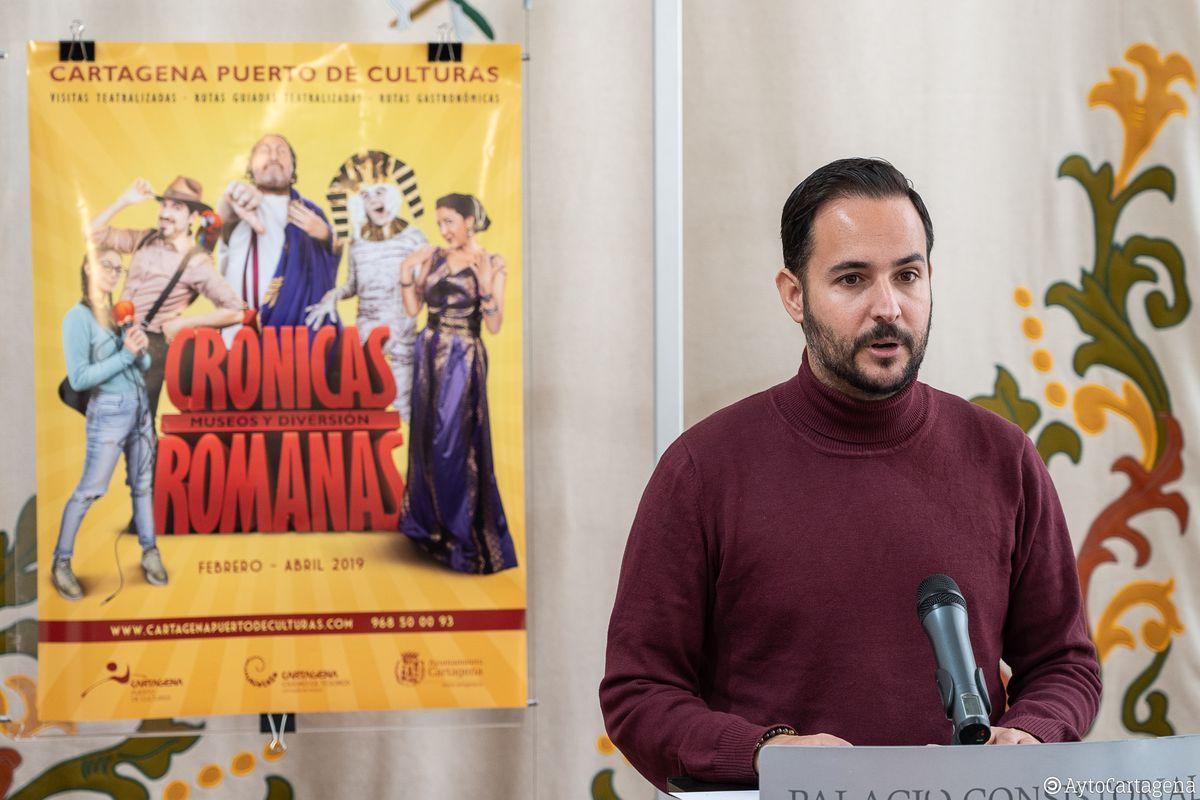 Presentación 'Crónicas Romanas' programación de actividades de Cartagena Puerto de Culturas