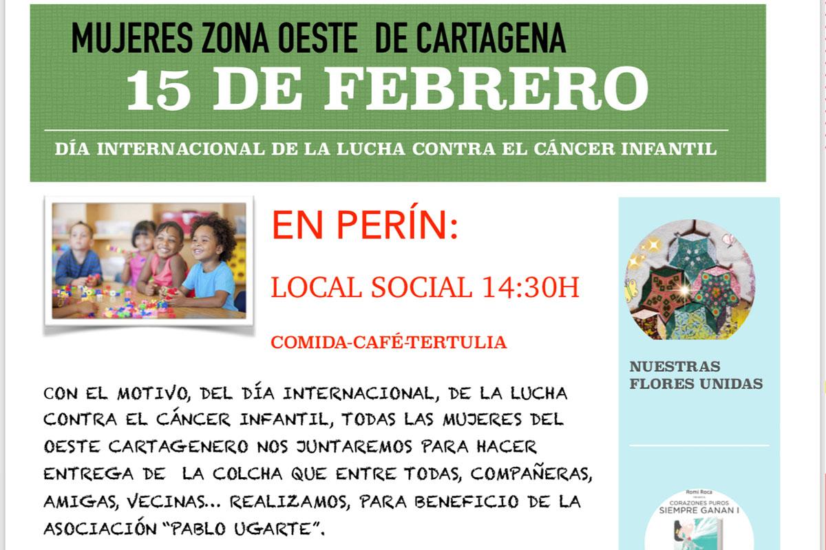 Cartel Comida Café - tertulia en beneficio de la asociación Pablo Ugarte