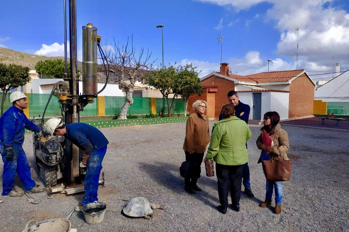 Toma de muestras en el CEIP San Ginés de la Jara