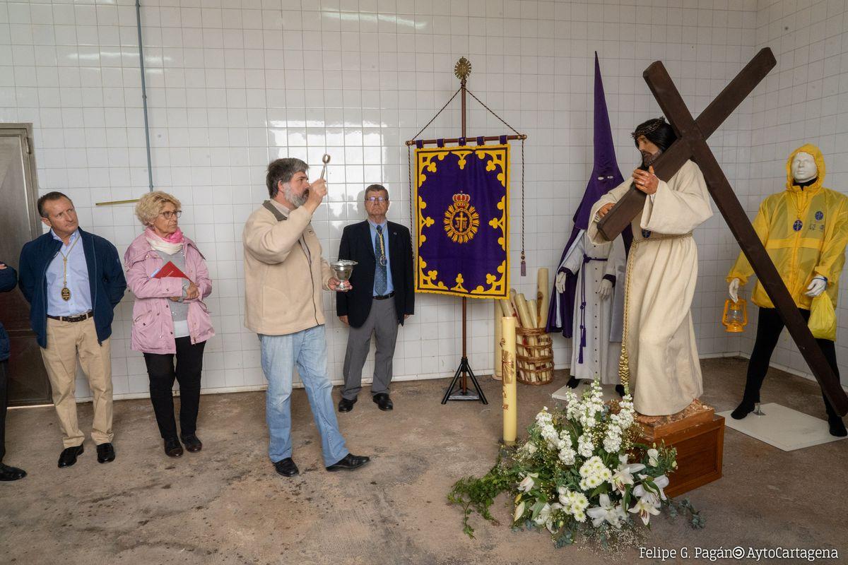 Bendición de la Lonja de Cabo de Palos donde se recogerá la procesión del Jueves Santo