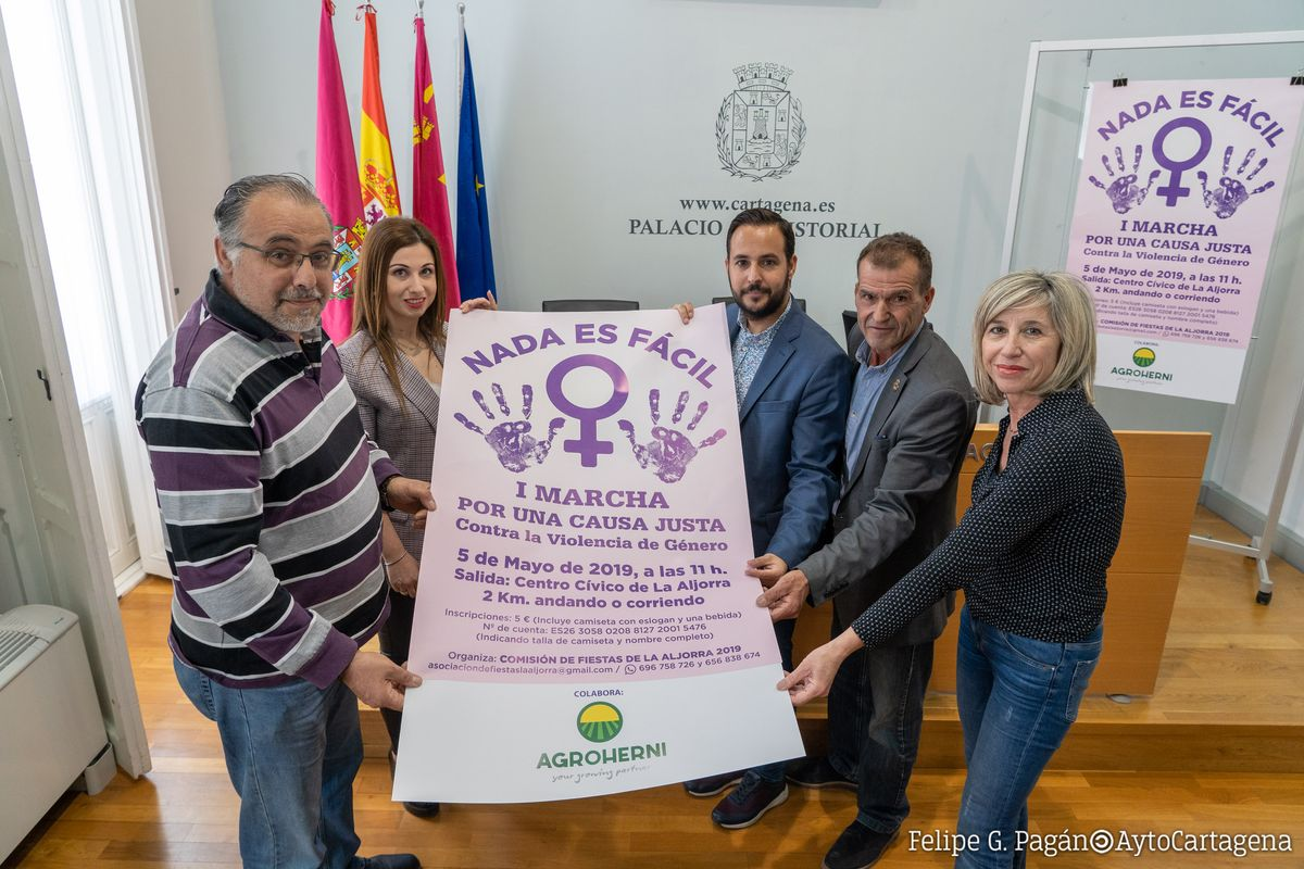 I Marcha Contra la Violencia de Género La Aljorra