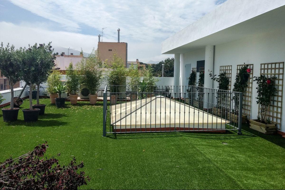 Espacio ecológico en la terraza Casa Moreno sede de la ADLE