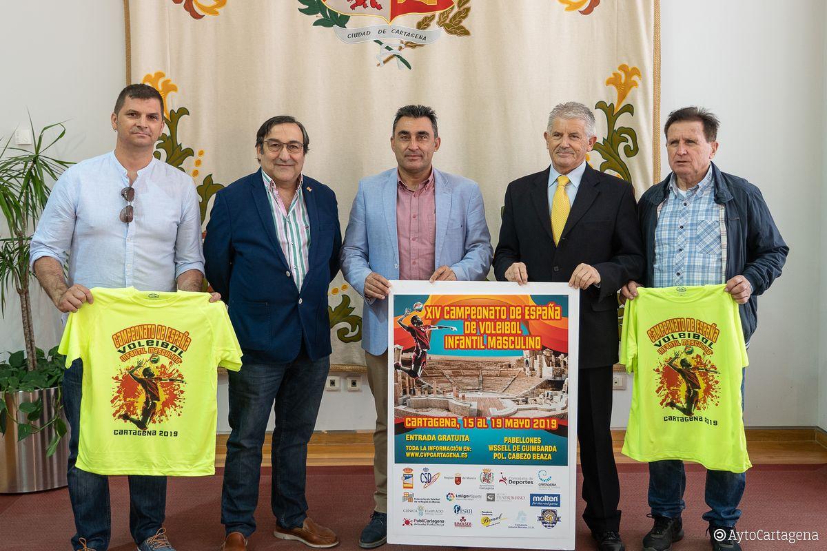 Presentación Campeonato de España de Voleibol infantil masculino 2019