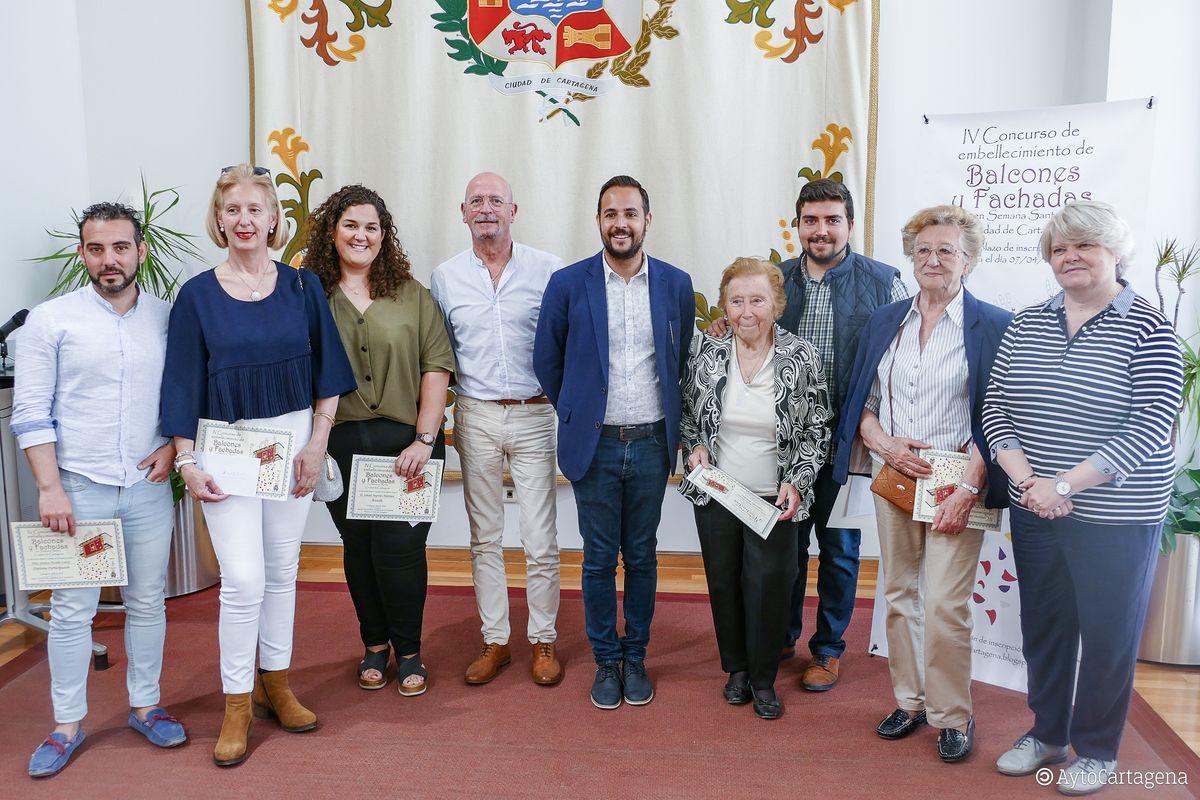 Entrega premios IV Concurso de Balcones y Fachadas de Semana Santa de Cartagena