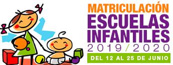 Formalización de matrícula Escuelas Infantiles Municipales 2019/2020