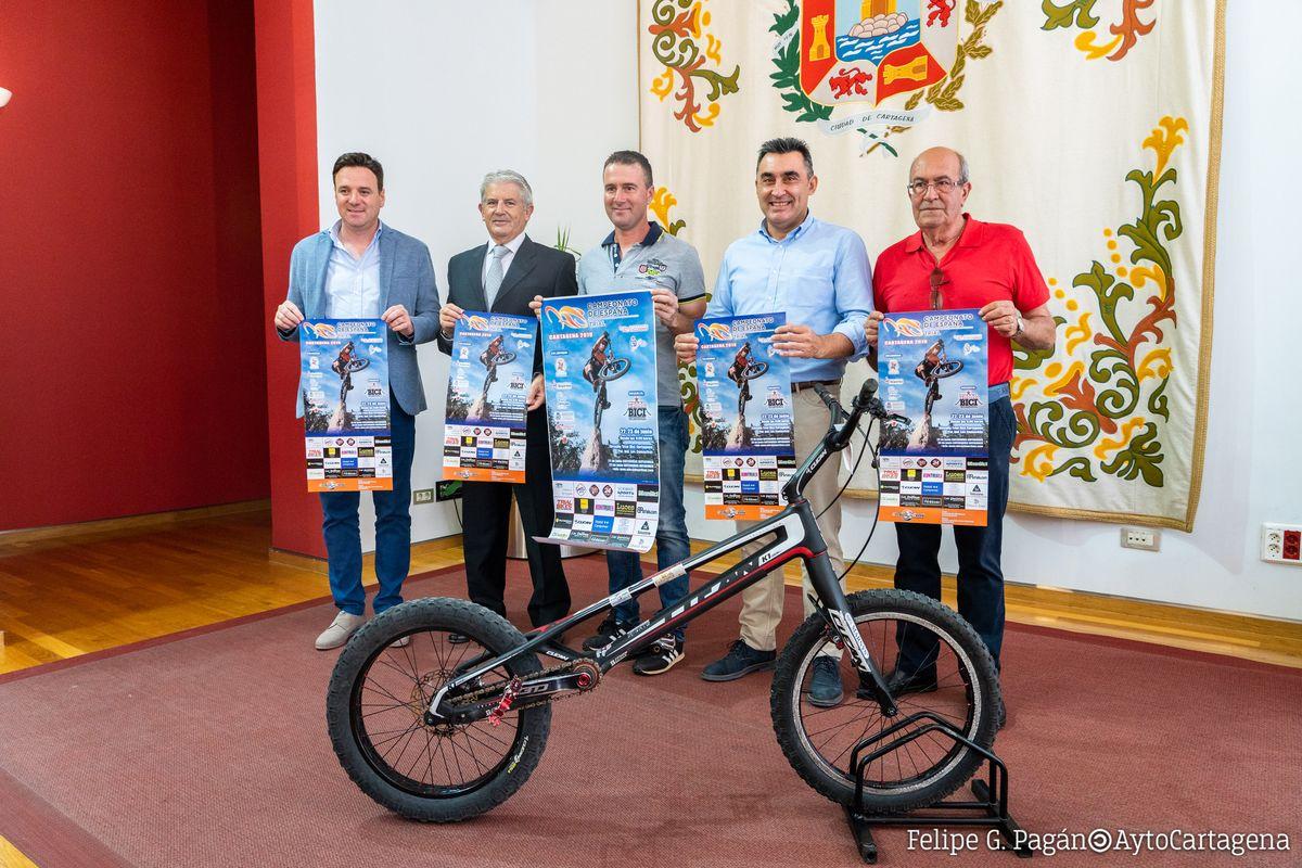 Presentación del Campeonato de España de Trial Bici Cartagena 2019