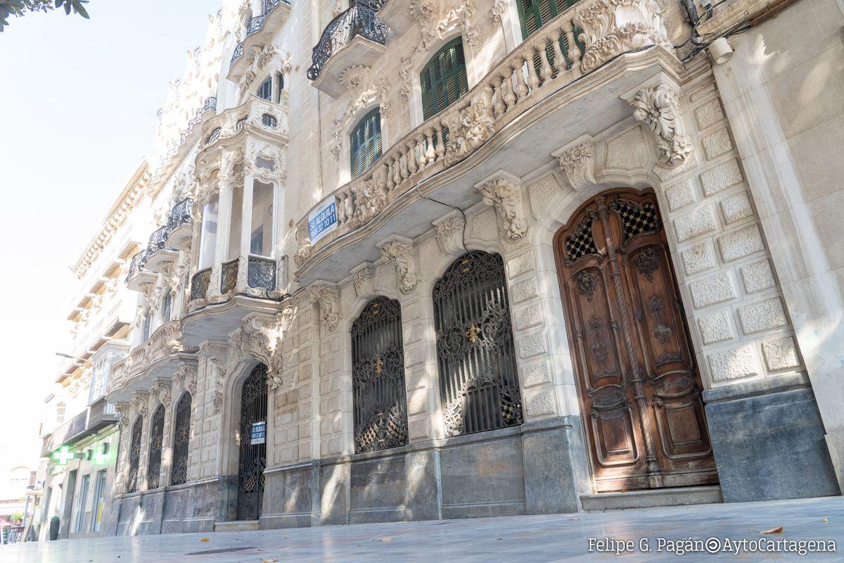 Puerta de la Casa maestre sin los tiradores ni aldabas