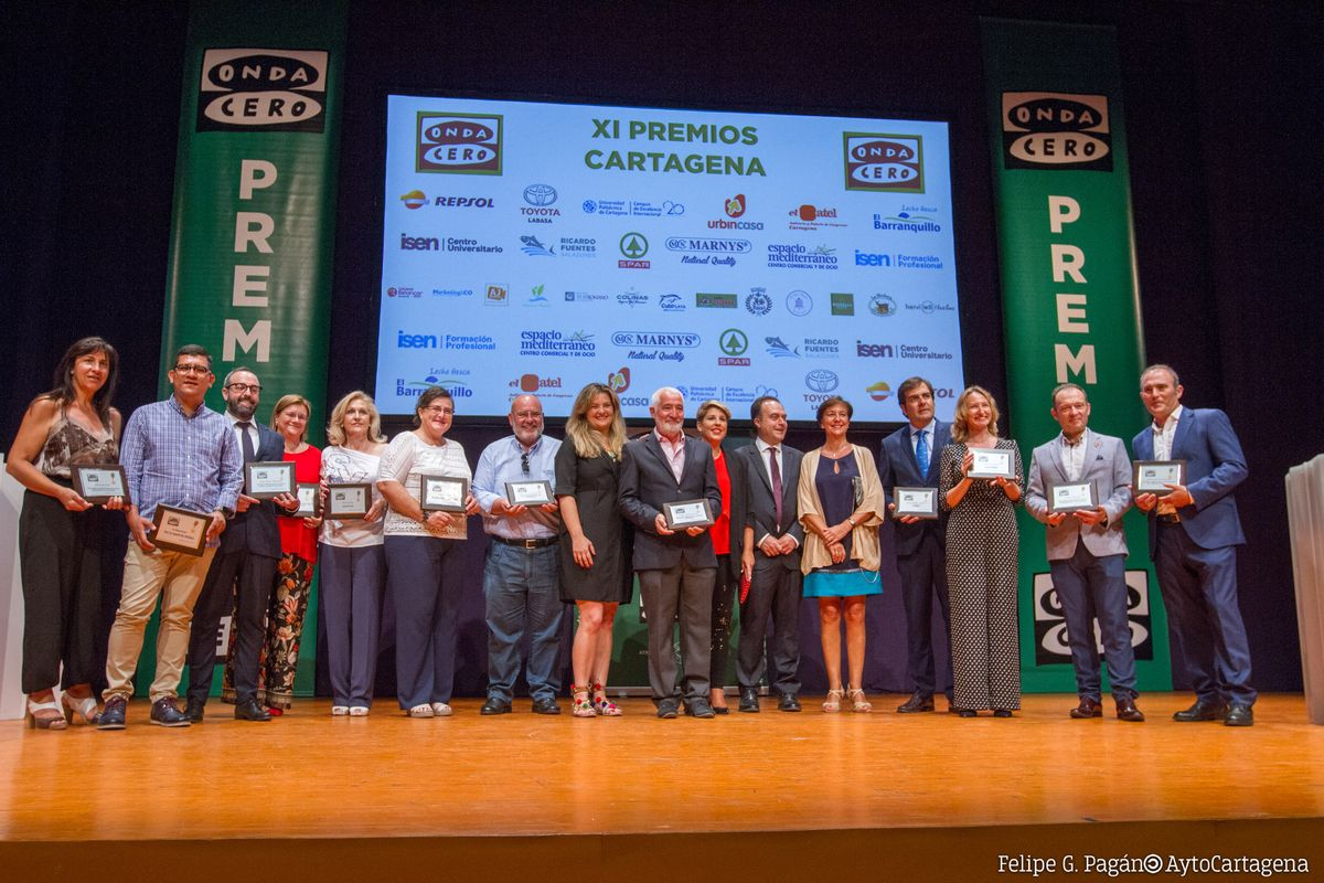 Gala entrega de premios Onda Cero Cartagena 2019