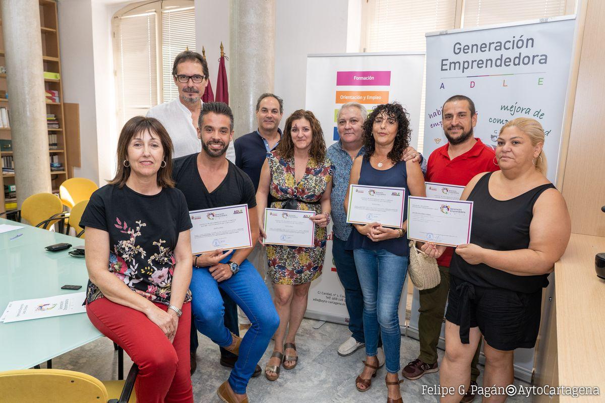 Entrega diplomas III Generación Emprendedora ADLE
