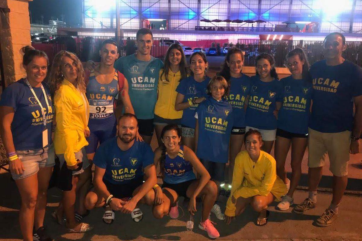 UCAM Atletismo Cartagena en el Campeonato de España Absoluto al aire libre