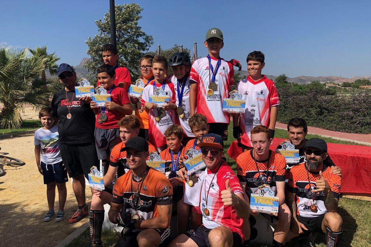 El Club Trial Bici Cartagena en el circuito de Lorca