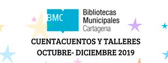 Bibliotecas Municipales. Programación cuentacuentos y talleres Octubre 2019