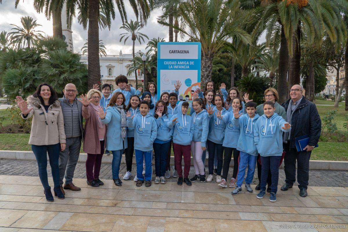Pleno del Consejo Municipal de la Infancia y descubrimiento del indicador de Cartagena como Ciudad Amiga de la Infancia