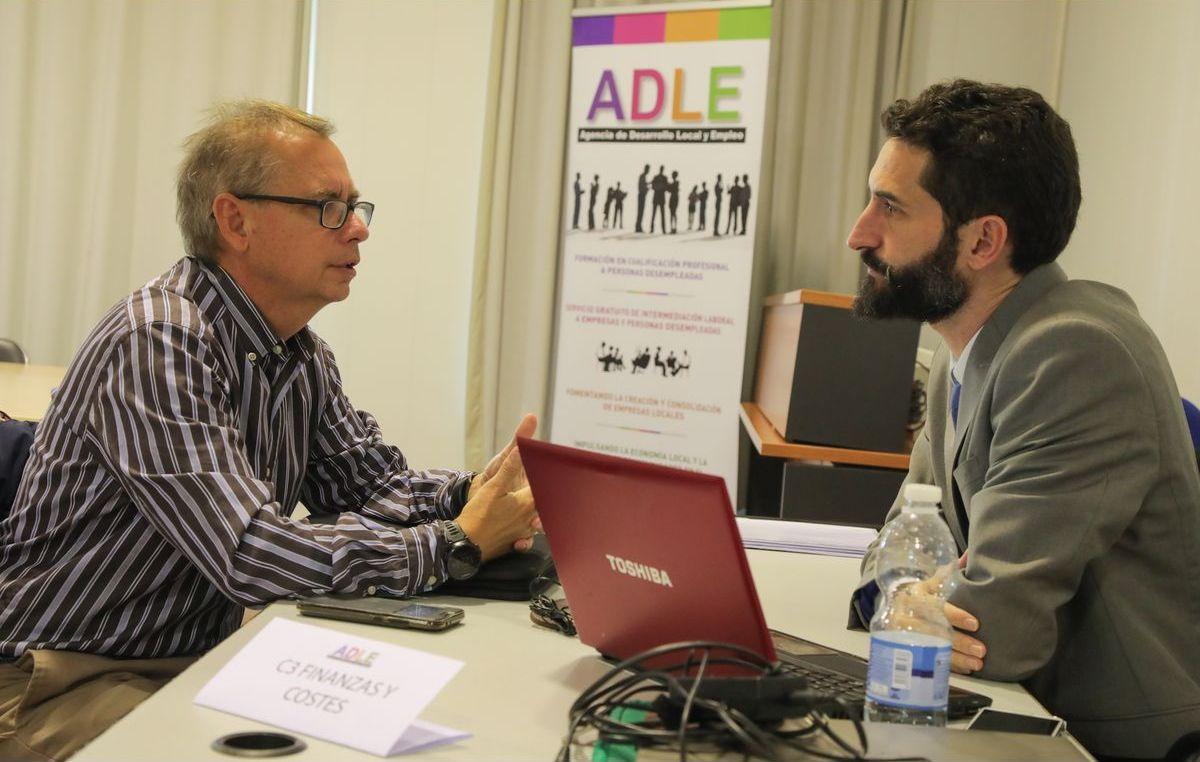 Visita de los consultores a los nuevos empresarios ADLE