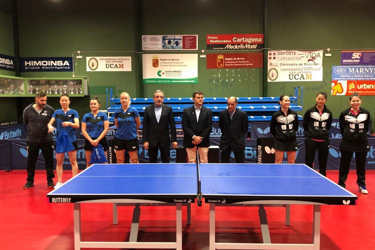 El equipo de tenis de mesa del UCAM Cartagena