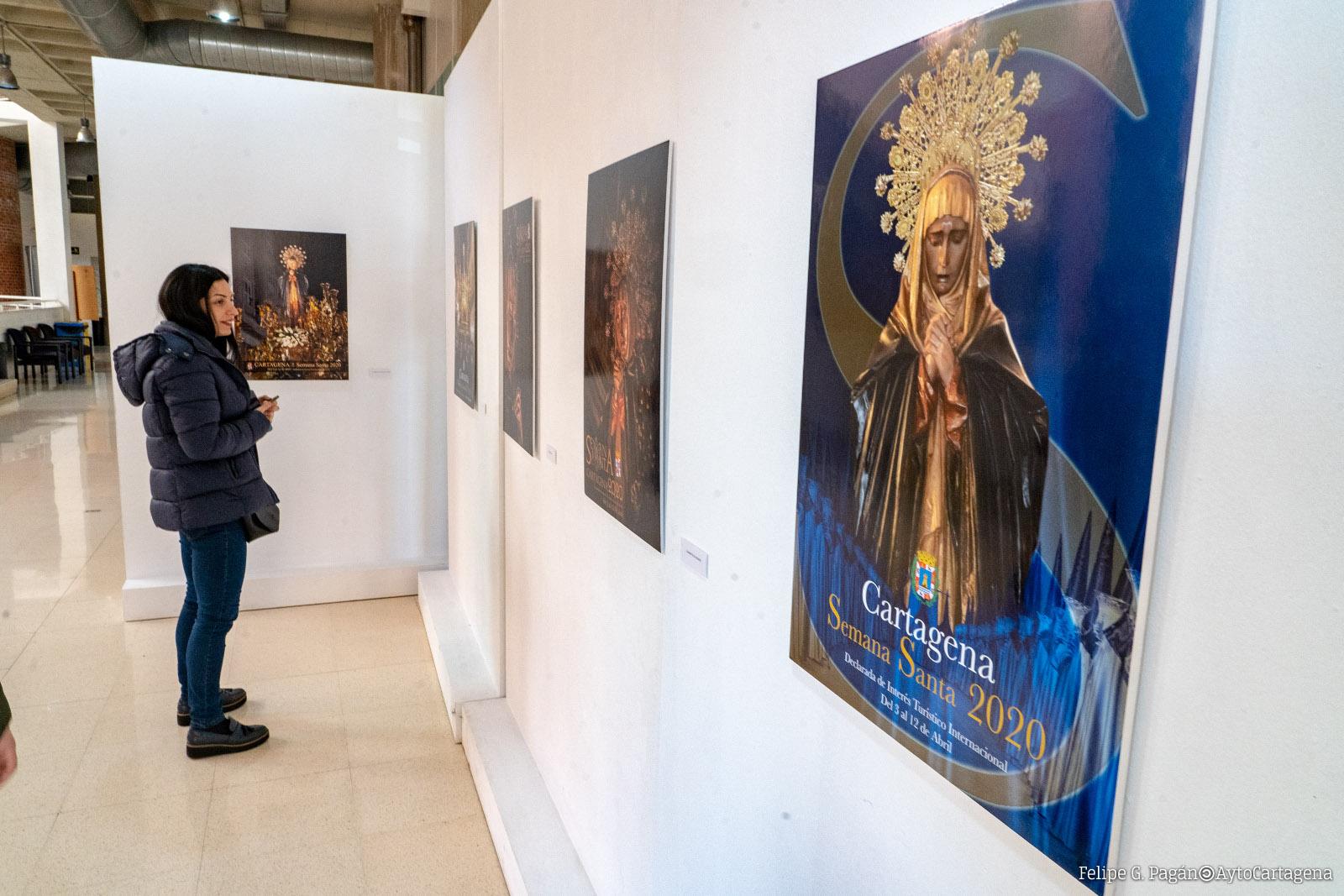 Exposición de los trabajos presentados al Concurso de de Carteles de Semana Santa 2020