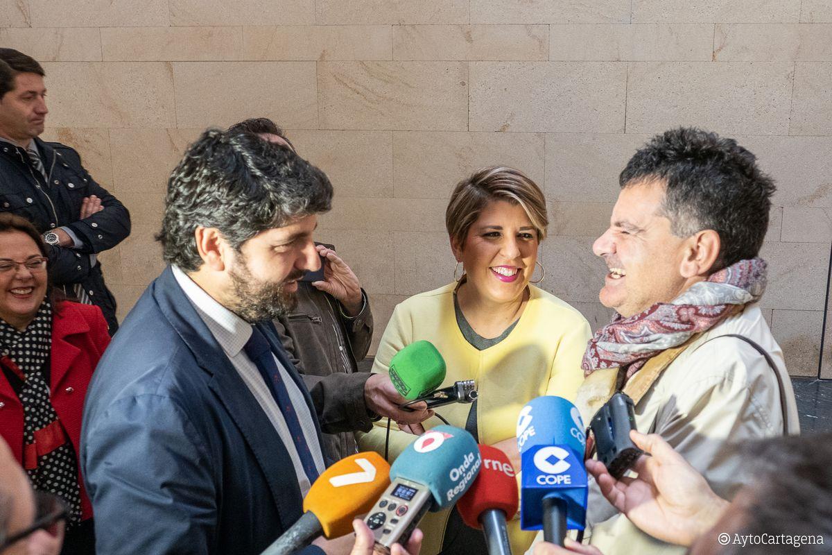 Recepción visitante dos millones Teatro Romano Cartagena