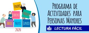 Programa para Mayores y Personas con Discapacidad Enero - Junio 2020. Documento PDF - 1,64 MB. Se abre en ventana nueva