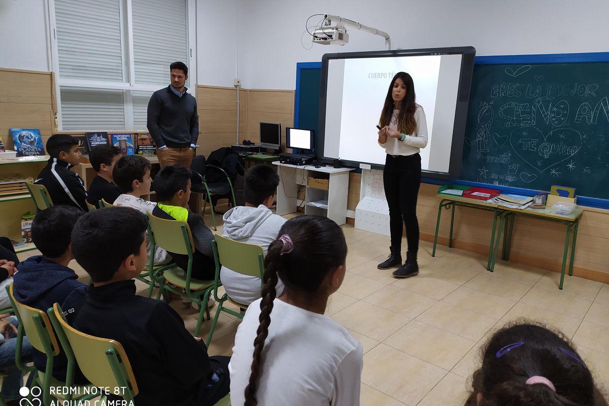 Alumnos del colegio Feliciano Sánchez participan en el programa de Nutrición y Deporte