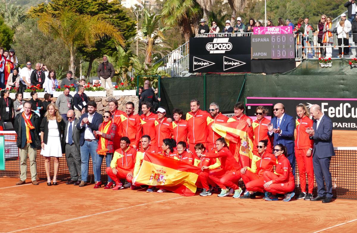 Eliminatoria de la Copa Federación de tenis en La Manga Club España-Japón