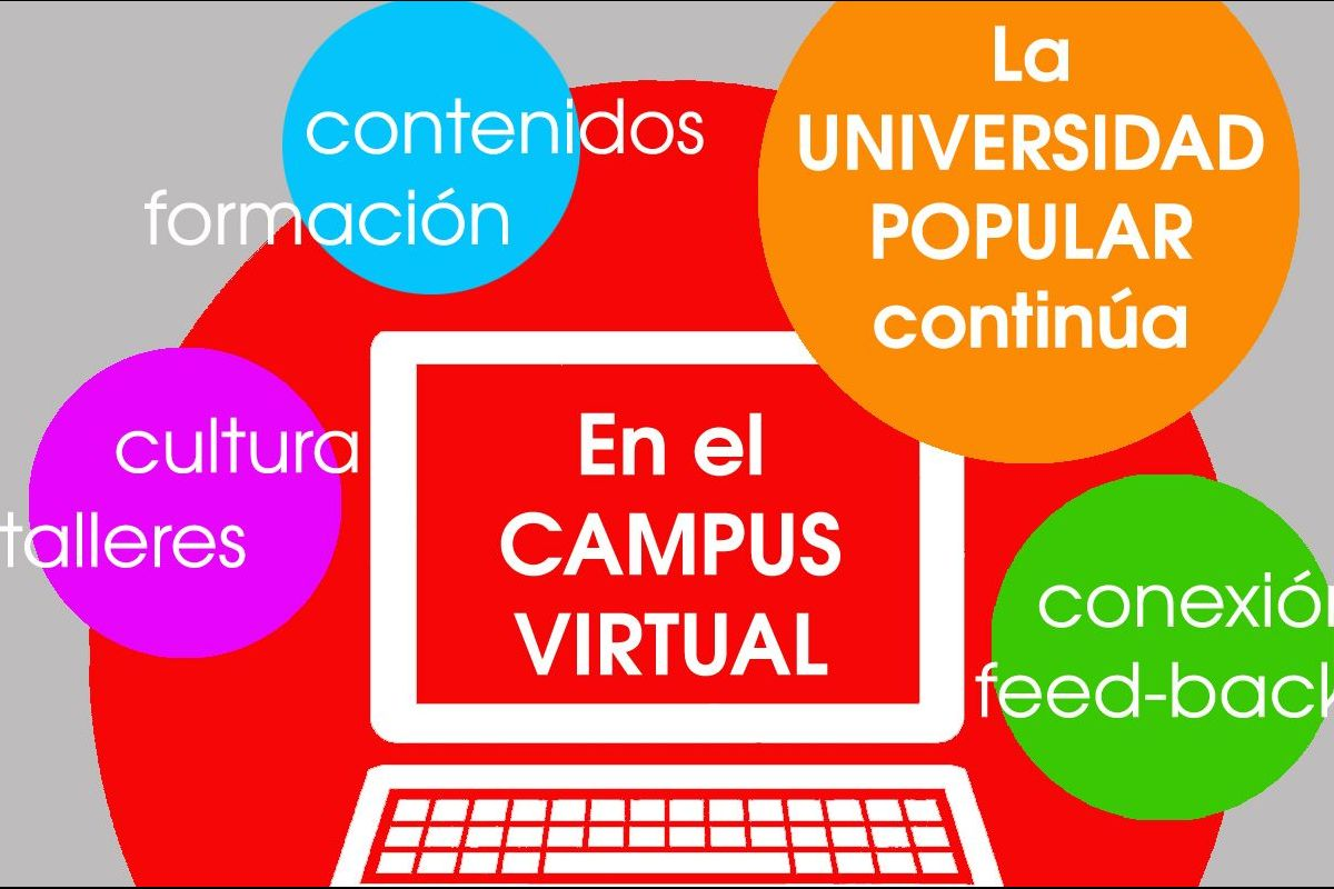 La Universidad Popular continúa operativa con el Campus Virtual