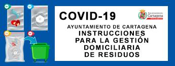 COVID-19 gestión de residuos procedentes de domicilios y establecimientos