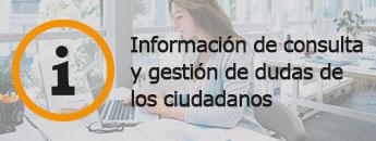 Información de consulta y gestión de dudas de los ciudadanos