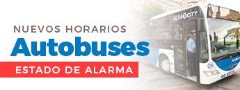 Nuevos horarios Autobuses por el Estado de Alarma
