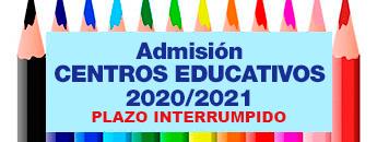Admisión Centros Educativos Curso 2020/2021