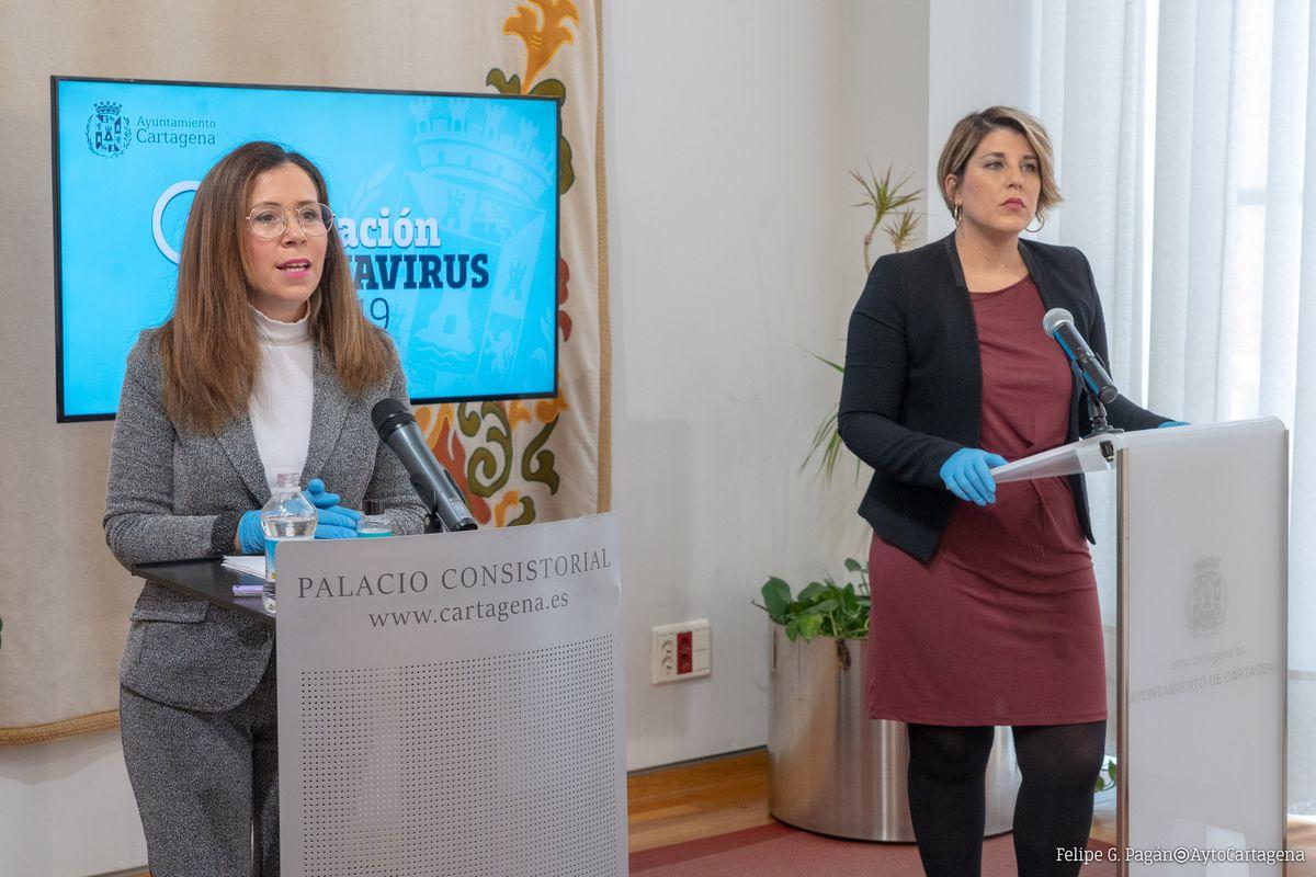 Comparecencia de la alcaldesa y la vicealcaldesa sobre las nuevas medidas para hacer frente a la crisis social y económica del coronavirus