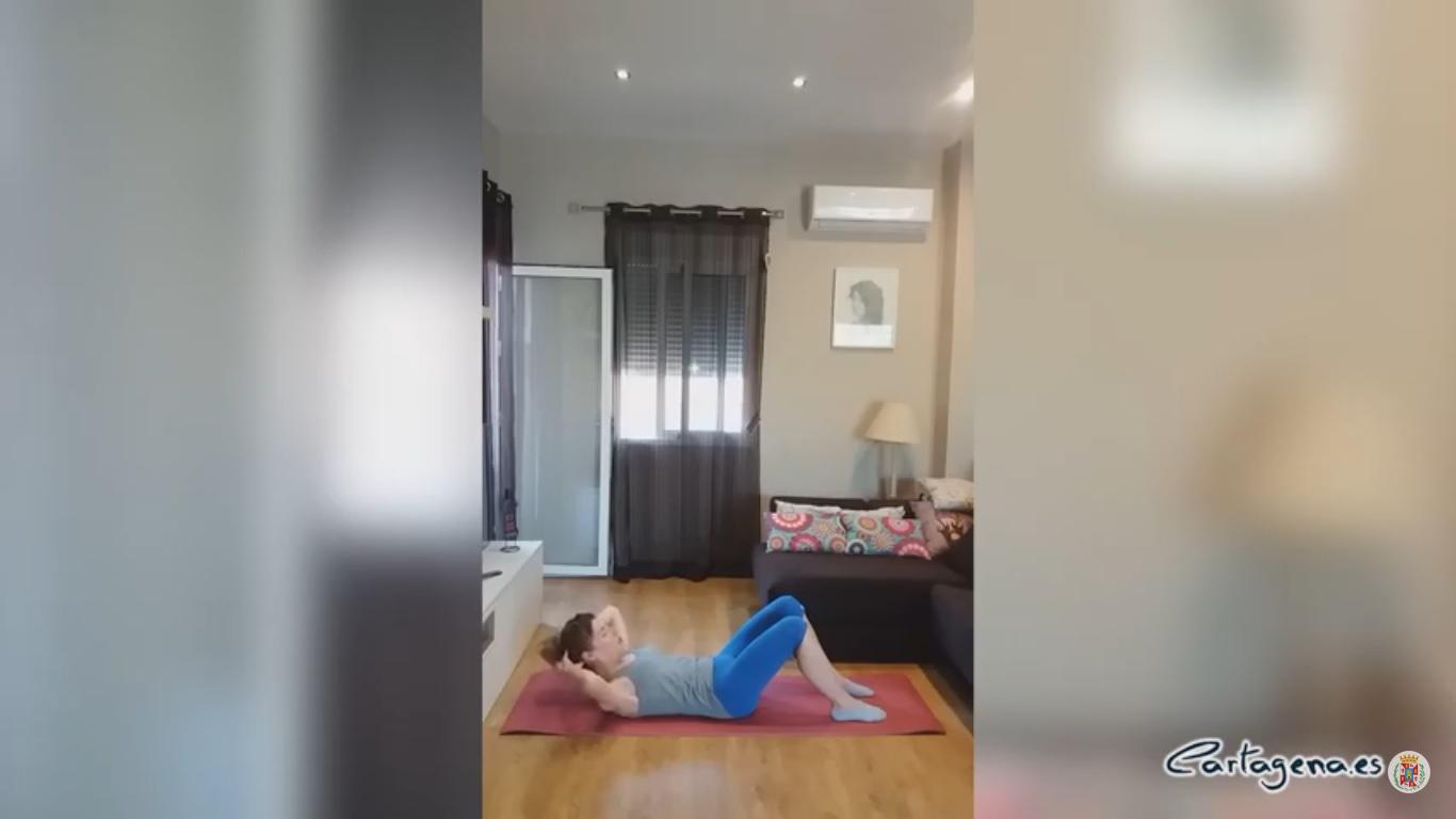 Deporte en casa, ejercicio de core