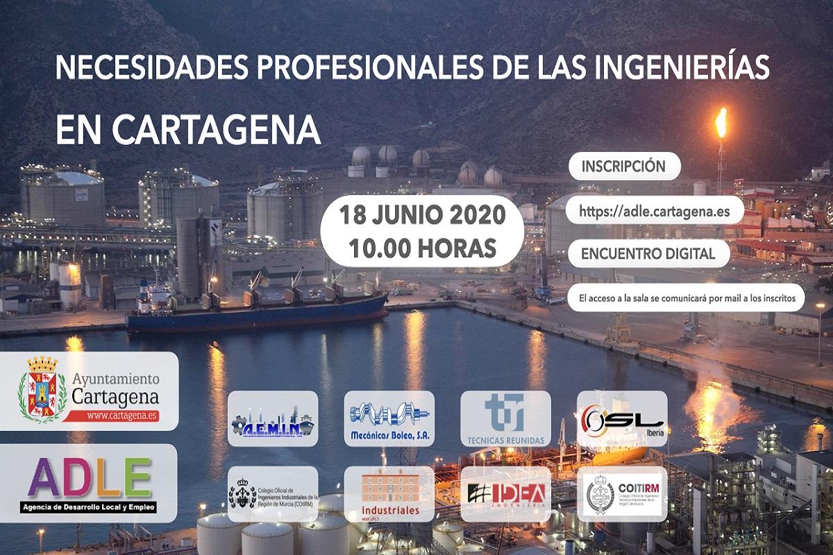 Encuentro digital sobre las necesidades profesionales de las ingenierías en Cartagena