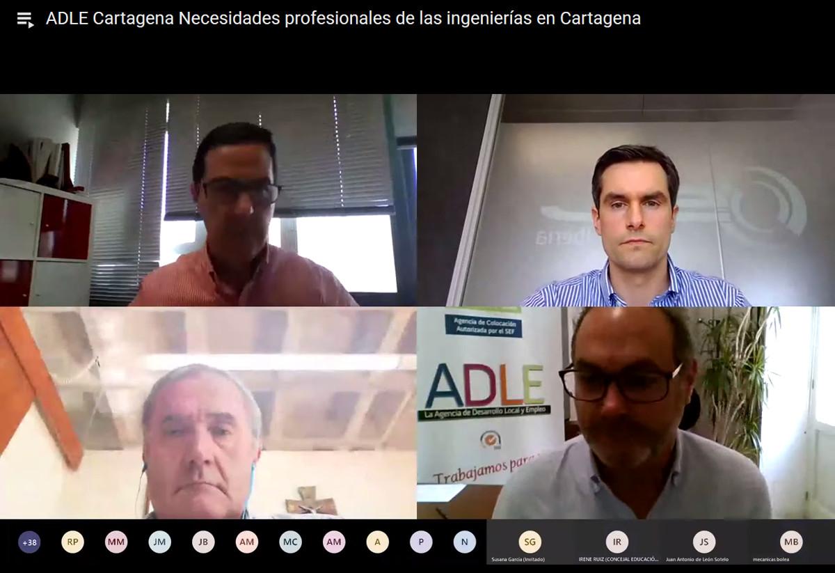 Webinar de la ADLE sobre el sector industrial en Cartagena