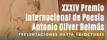 XXXIV Premio Internacional de Poesía Antonio Oliver Belmás