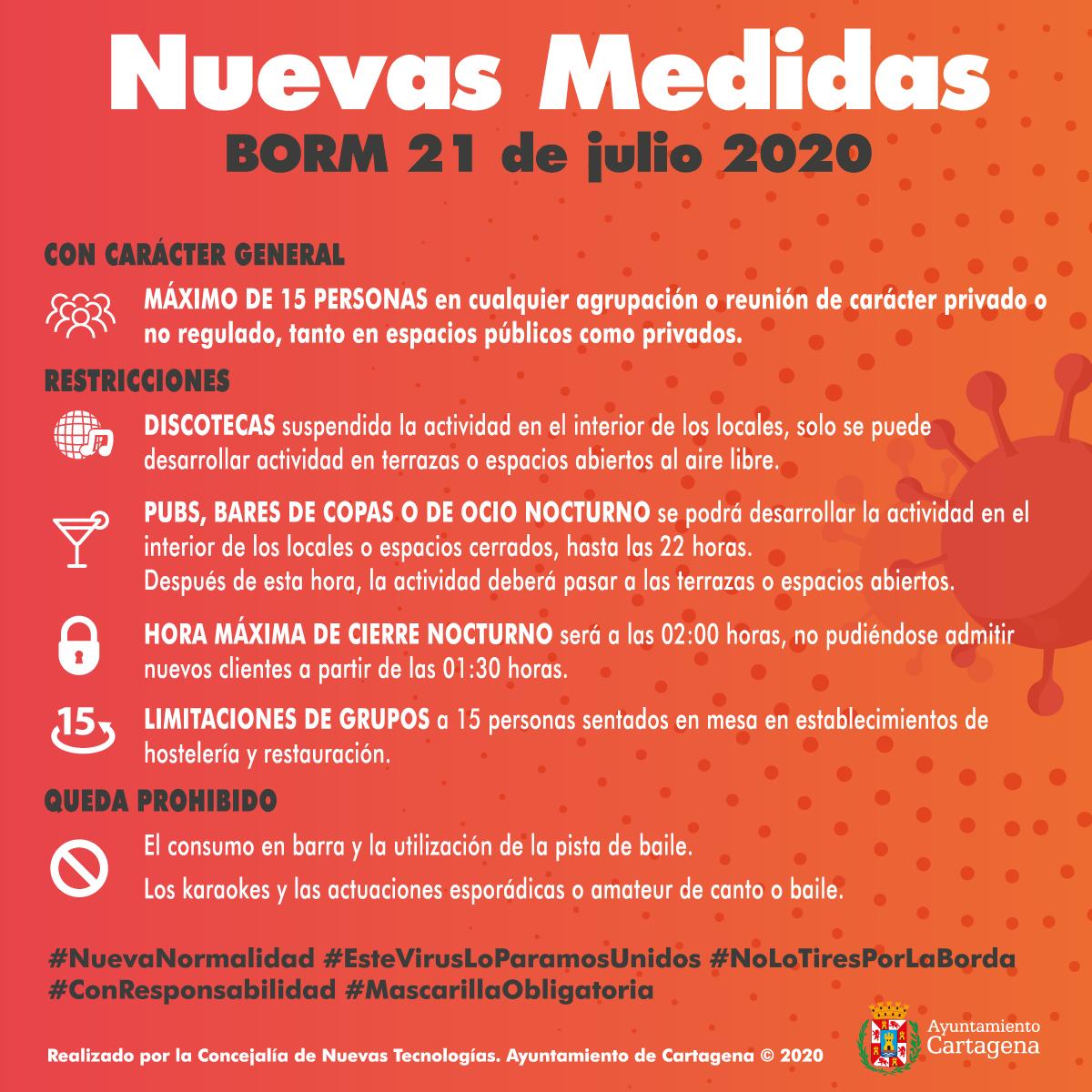 Nuevas Medidas BORM 21 julio 2020
