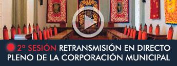 Retransmisión en directo Pleno Ordinario de la Corporación Municipal parte 2