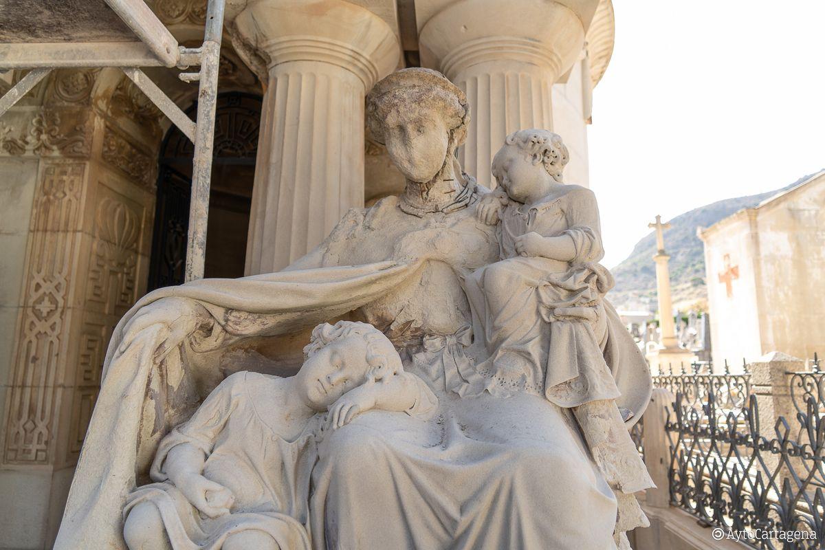 Obras de restauración Panteon Pedreño Cementerio Remedios