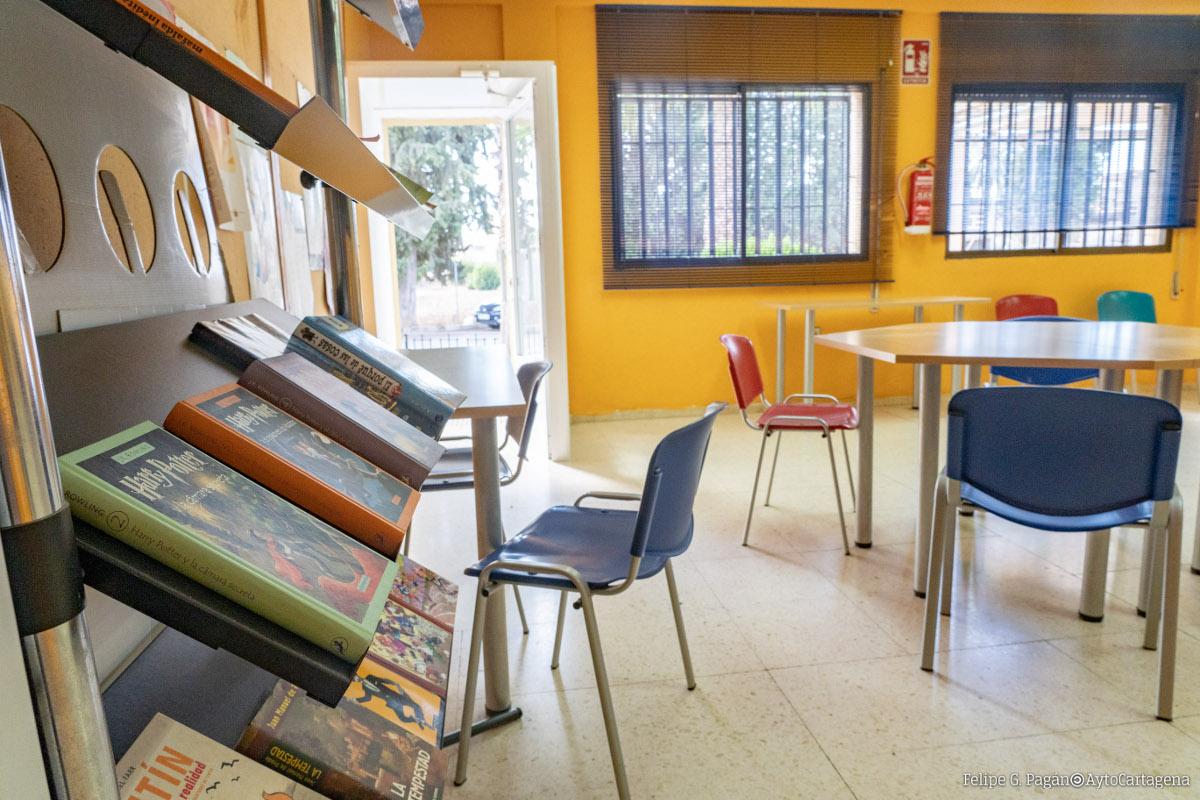 Aula de estudio en el Centro Cívico de La Palma