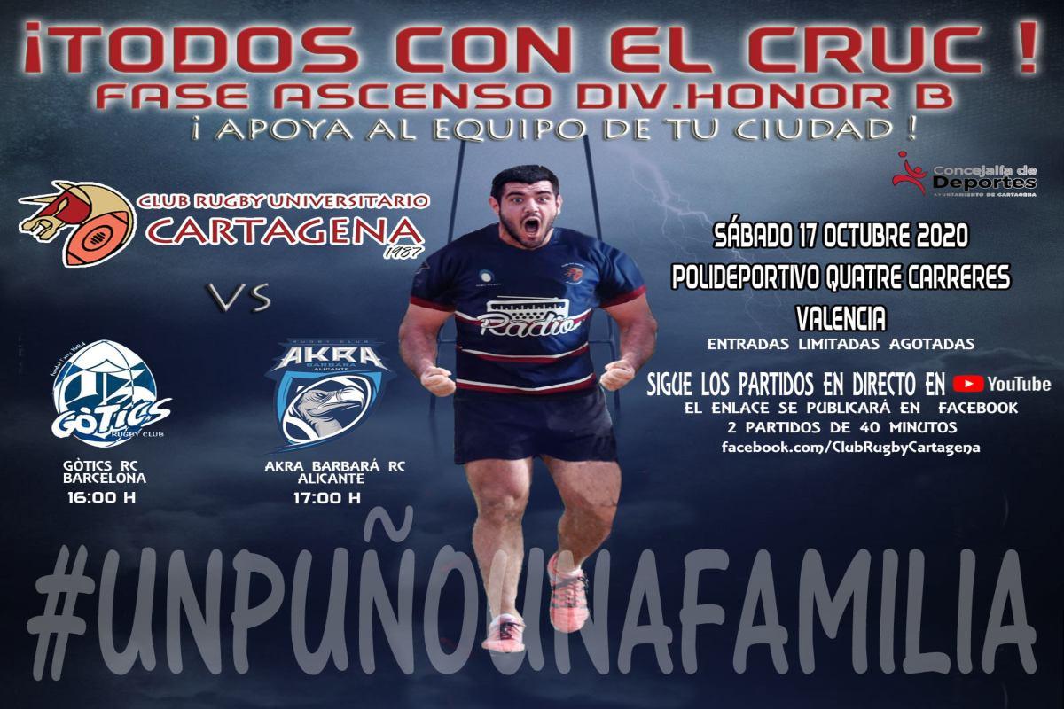 Club de Rugby Universitario Cartagena disputa en Valencia la fase de ascenso a División de Honor B