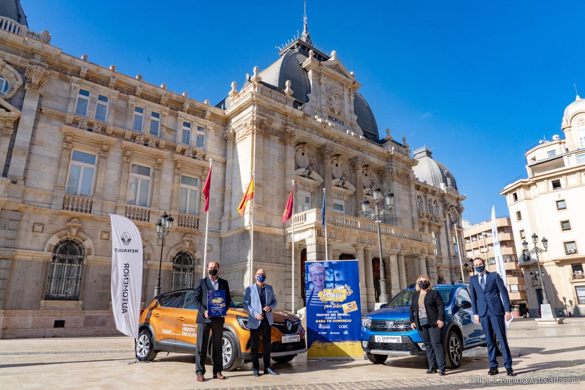 Presentación de la campaña 'El premio es para todos' de reactivación del comercio que sortea un coche
