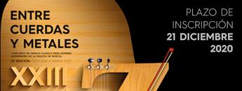 Abierto el plazo de inscripción para la XXIII edición del concurso Entre Cuerdas y Metales