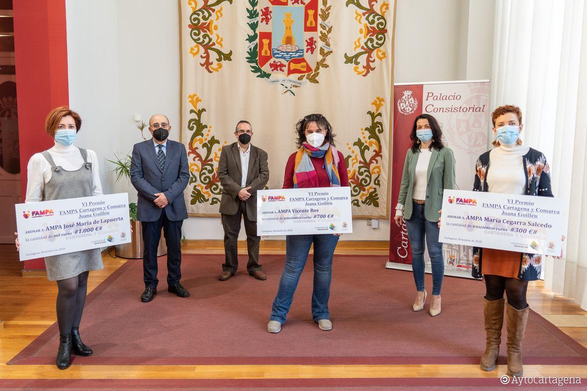 Entrega de los premios FAMPA Cartagena - Juana Guillén