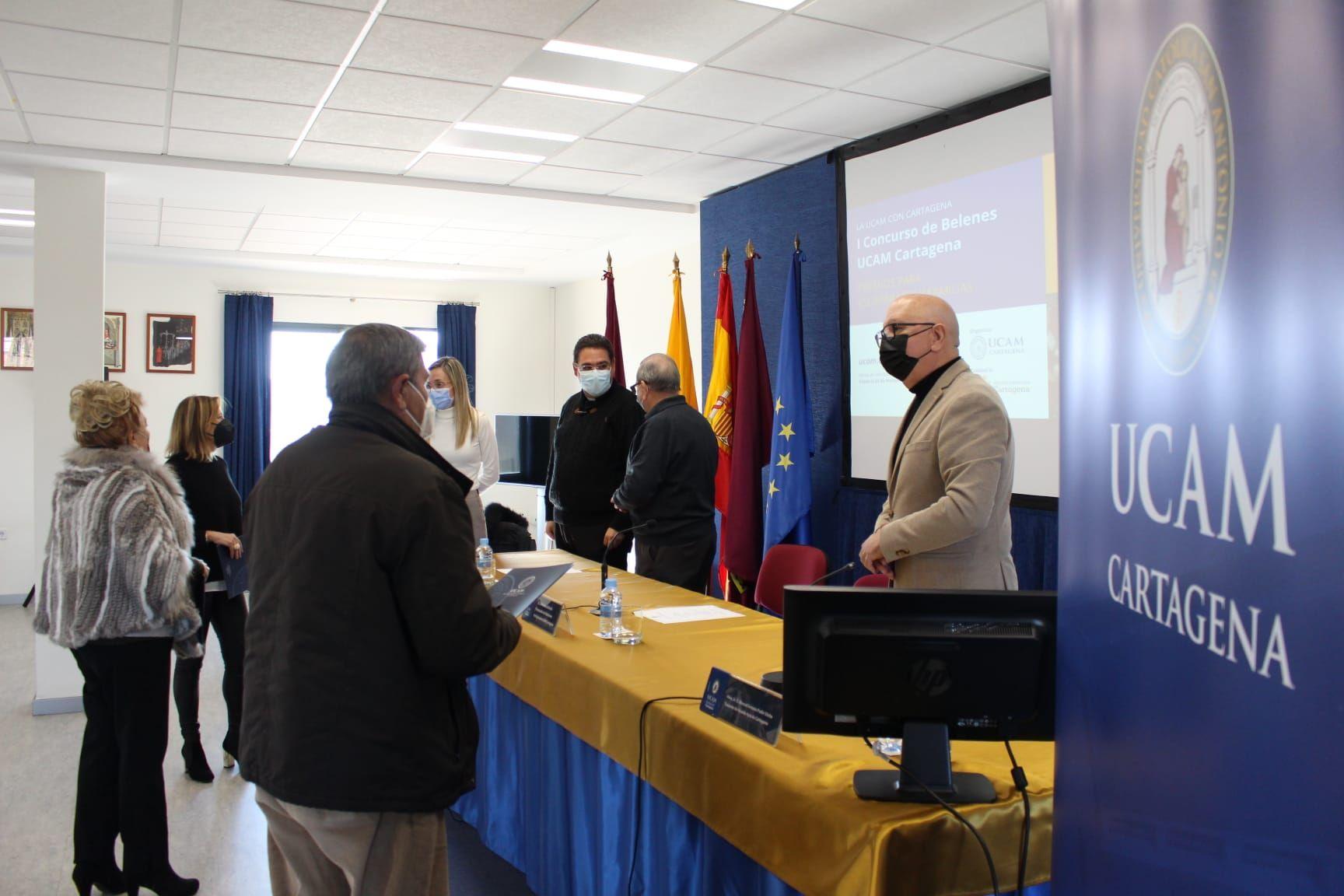 Entrega de premios en la sede de la UCAM.