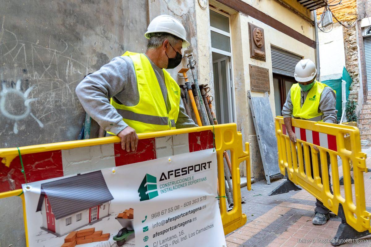 Empiezan las obras de rehabilitación de la Casa Museo de Isaac Peral en el callejón de Zorrilla